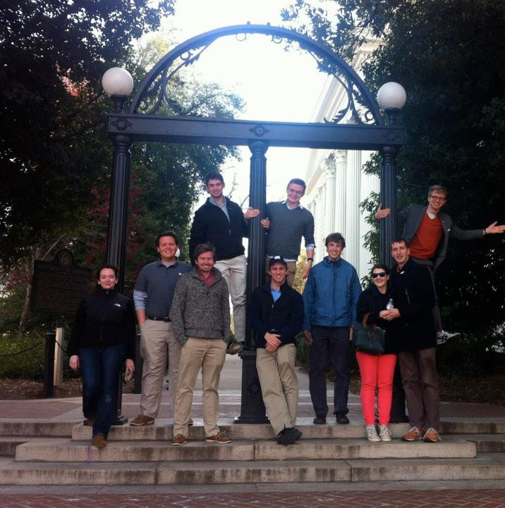 Senators at the Arch at UGA